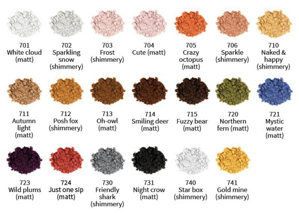 uoga-uoga-eyeshadows-kleurkaart